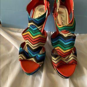 Rainbow high heel shoes